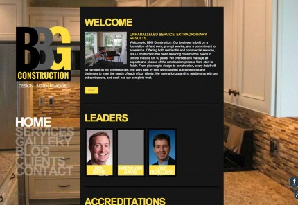BBG Construction website