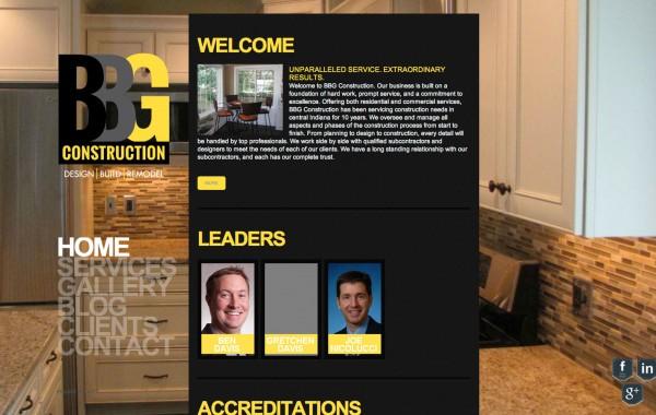 BBG Construction website