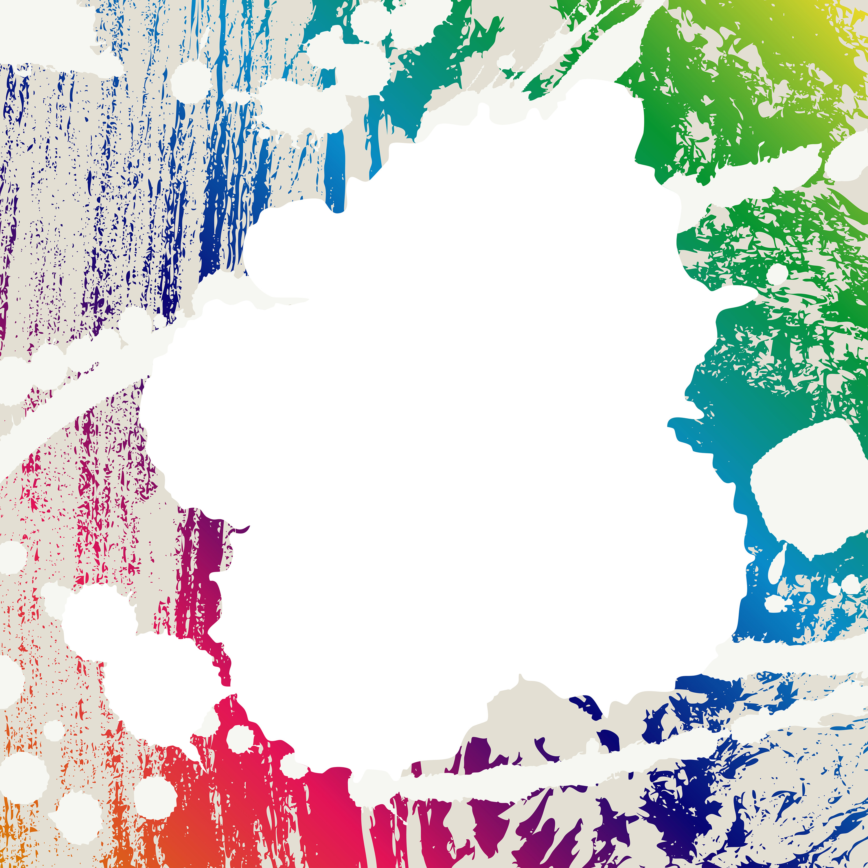 Abstract Blots Coloful Creative Background