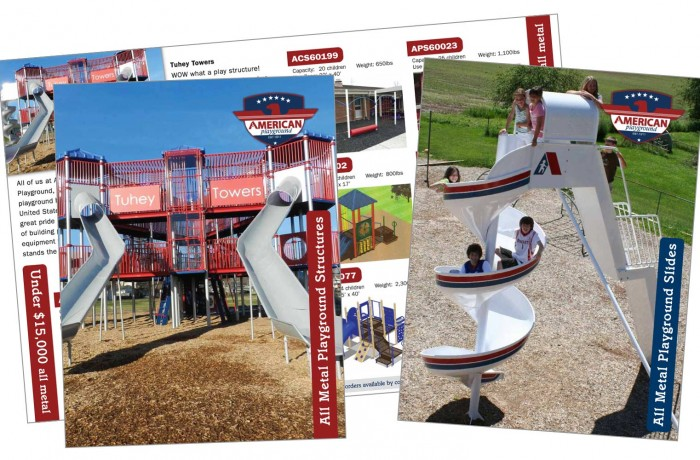 American Playground – slide and structure brochure