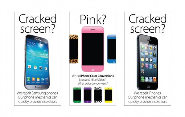 Cellular Necessities promotional posters