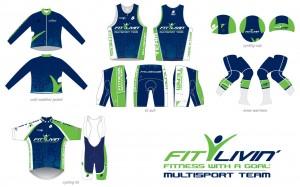Fit Livin' Team kit options