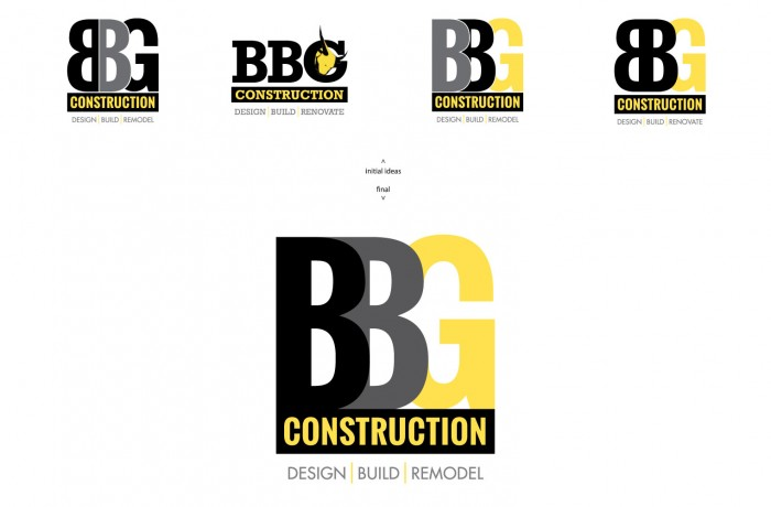 BBG Construction – corporate identity / logo