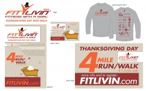 Fit Livin' Thanksgiving Day run promo items