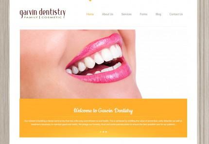 Garvin Dentistry website image