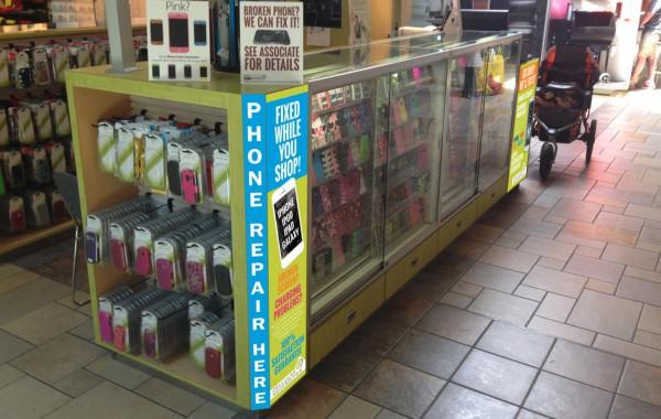 Cellular Necessities – kiosk graphics