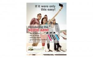 Cellular Necessities ad for selfie arm