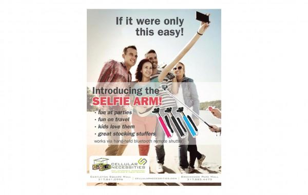 Cellular Necessities – Selfie Arm ad
