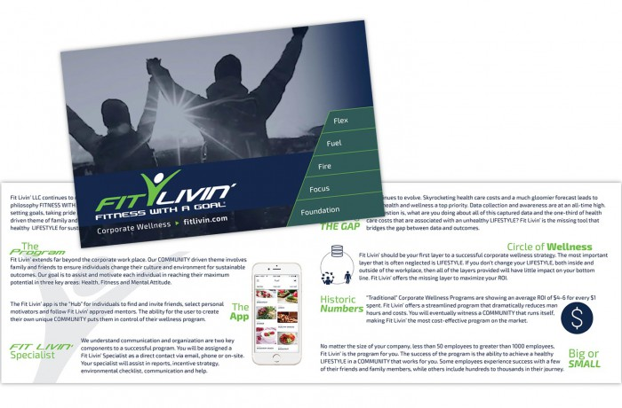 Fit Livin' promotional brochure