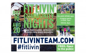Fit Livin' community nights poster