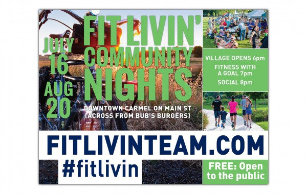 Fit Livin' – event promotional poster