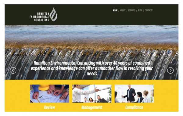 Hamilton Environmental Consulting – website development