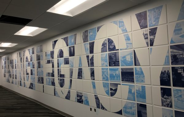 Flaherty and Collins – Lasting Legacy wall installation