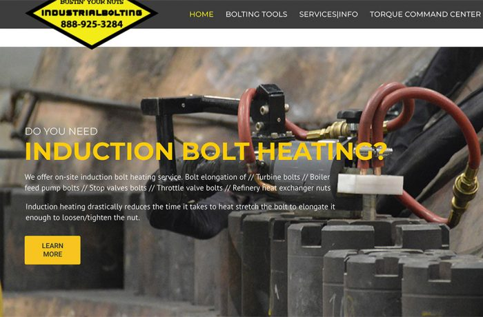 Industrial Bolting website